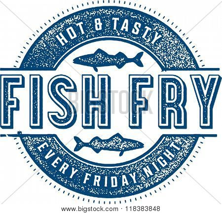 Friday Fish Fry Menu Stamp