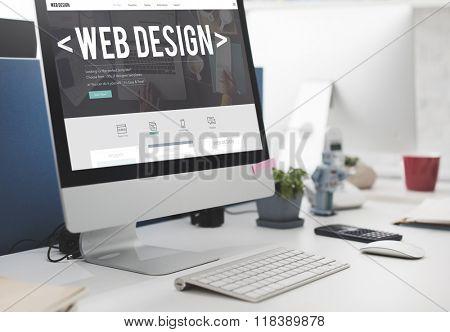 Web Design Layout Blogging Internet Program Concept