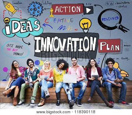 Innovation Innovate Invention Development Design Concept poster