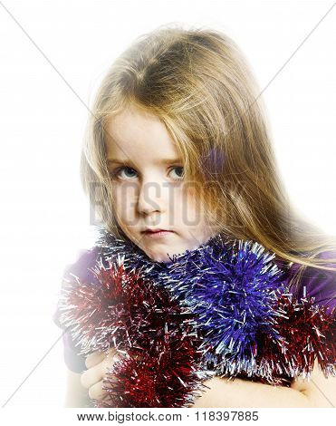 Little Girl With Ong Hair Portrait
