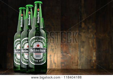Bottles Of Heineken Beer