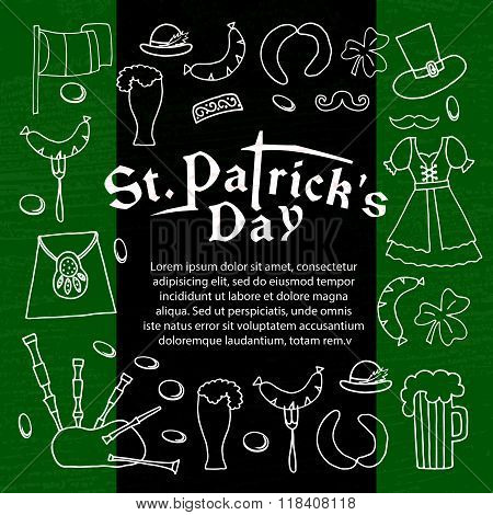 Vector Illustration Of Saint Patrick's Day Elements Set