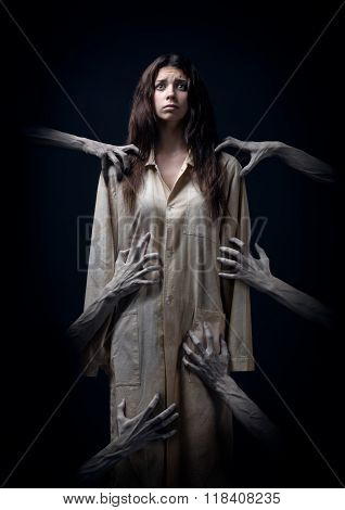 Girl In A Dirty Robe, Hand Of Death, Nightmares, Insomnia, A Mentally Ill Woman, Halloween Theme, Cr