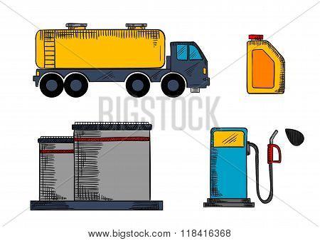Storage, transportation and filling station