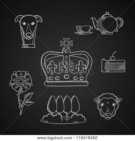 England traditional symbols and icons