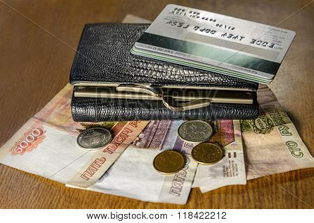 Wallet With Credit Cards And Cash