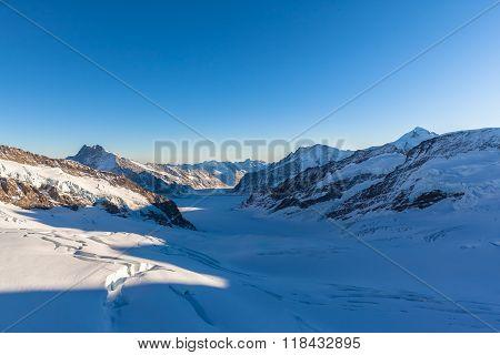 Stunning View Of Aletschglacier From Jungfraujoch