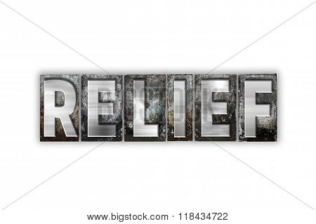 Relief Concept Isolated Metal Letterpress Type
