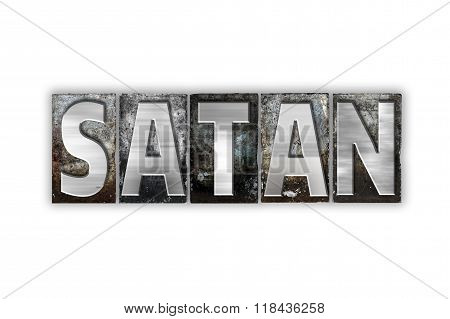 Satan Concept Isolated Metal Letterpress Type