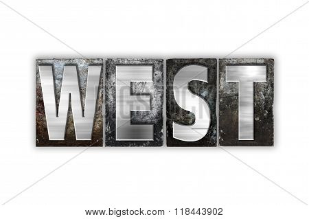 West Concept Isolated Metal Letterpress Type
