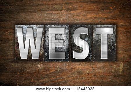 West Concept Metal Letterpress Type