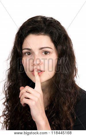 Woman Shushing Hushing