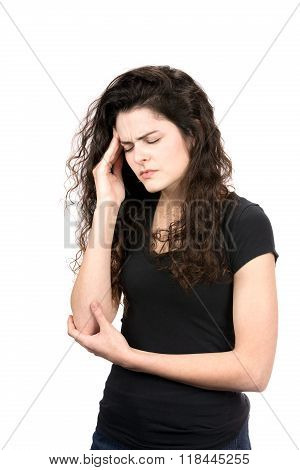 Woman With Migraine Headache Pain