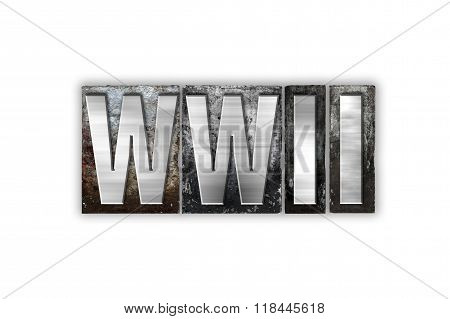 Wwii Concept Isolated Metal Letterpress Type