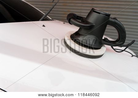 Car Care With Power Buffer Machine