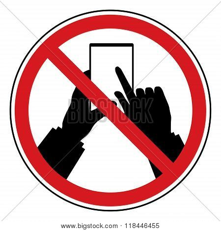 Do Not Use Mobile Phone Restrict Sign. Prohibit Sign In Privacy Policy In Business Concept Design.