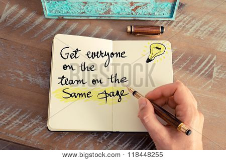 Get Everyone On The Team On The Same Page