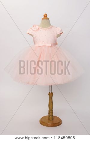 Baby Pink Dress On A Mannequin