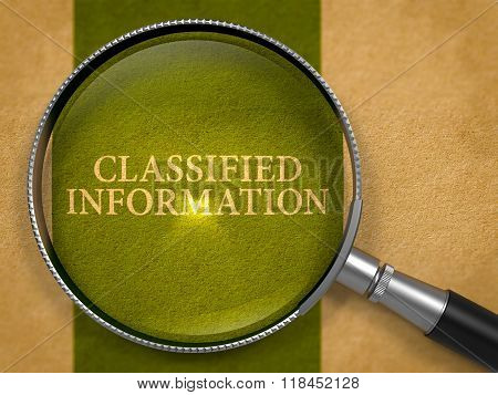 Classified Information through Magnifying Glass.