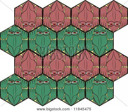 Pattern Of Crocodiles