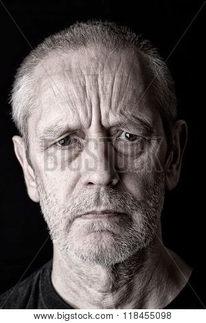 Portrait Of An Angry And Furious Man