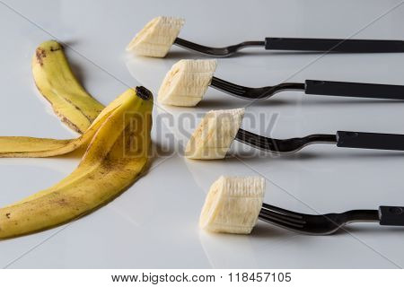 Four Forks With Banana