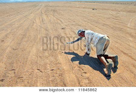 Tourist In Egyptian Desert
