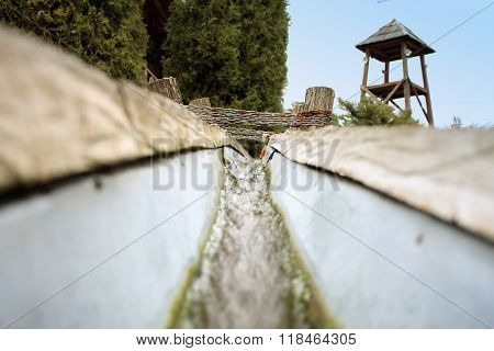 Culvert - Metal Pipes And Canal