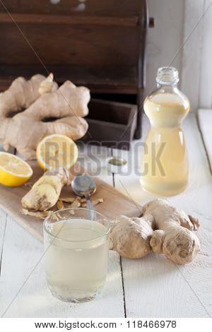 Ginger Drink With Lemon