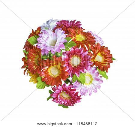 Artificial  Bouguet Flowers Isolated
