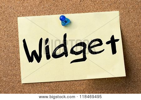 Widget - Adhesive Label Pinned On Bulletin Board