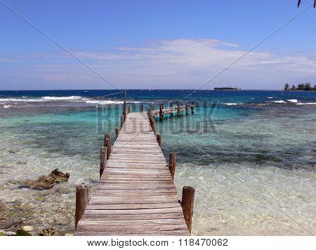 Pier over the Ocean in Honduras