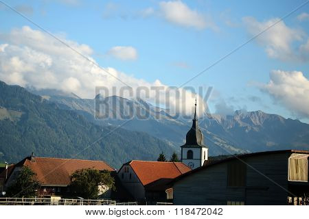 Montreux And Alpine Mountains