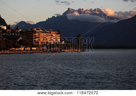 Autumn Landscape Of Lake Geneva