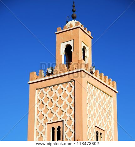 History In Maroc Africa Minaret And The Blue    Sky