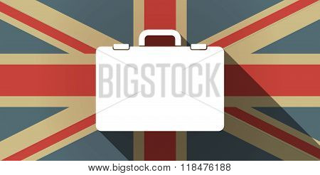 Long Shadow Uk Flag Icon With  A Breiefcase
