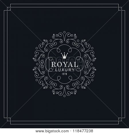 Royal luxury emblem template.