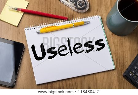 Useless - Note Pad With Text