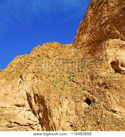in todra africa morocco the atlas dry mountain poster