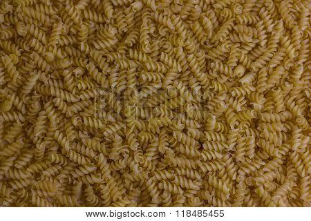 Closeup of Uncooked Italian Spiral Pasta