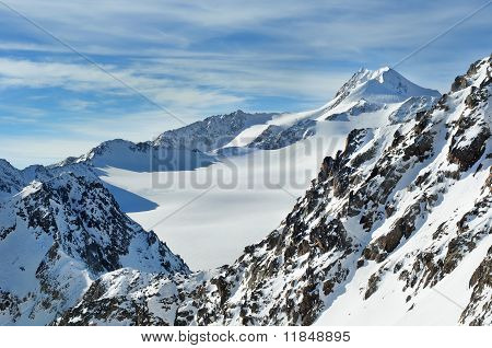 Beautiful Winter Mountains. Wildspitze.