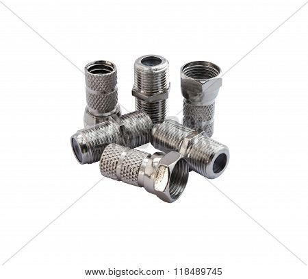 F Type Connector and Coupler Adapter Isolated