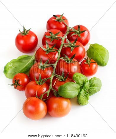 Cherry Tomatoes And Basil
