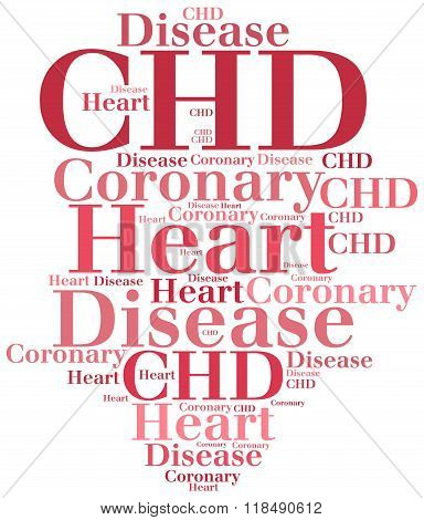 Chd - Coronary Heart Disease. Disease Concept.
