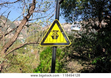 Cable Car Sign Mount Tai