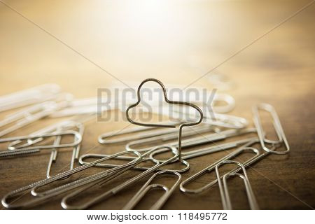 Cloud computing, cloud server, cloud application, concept image. Intentionally shot in surreal muted color, and shallow depth of field.