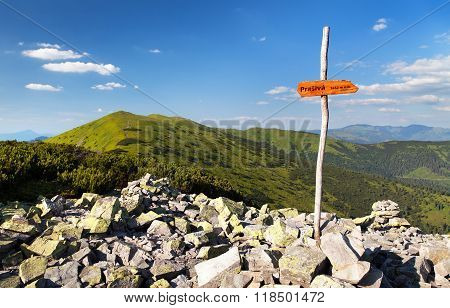 Mount Prasiva And Mount Chochula In Nizke Tatry