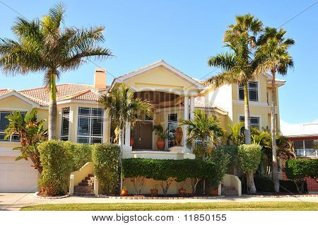 Elegant entry to a huge home
