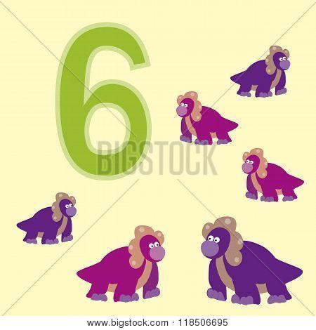 Number 6. Six Dinosaur (protoceratops) .