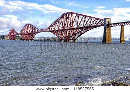 View of Forth Bridge, Scotland, UK
